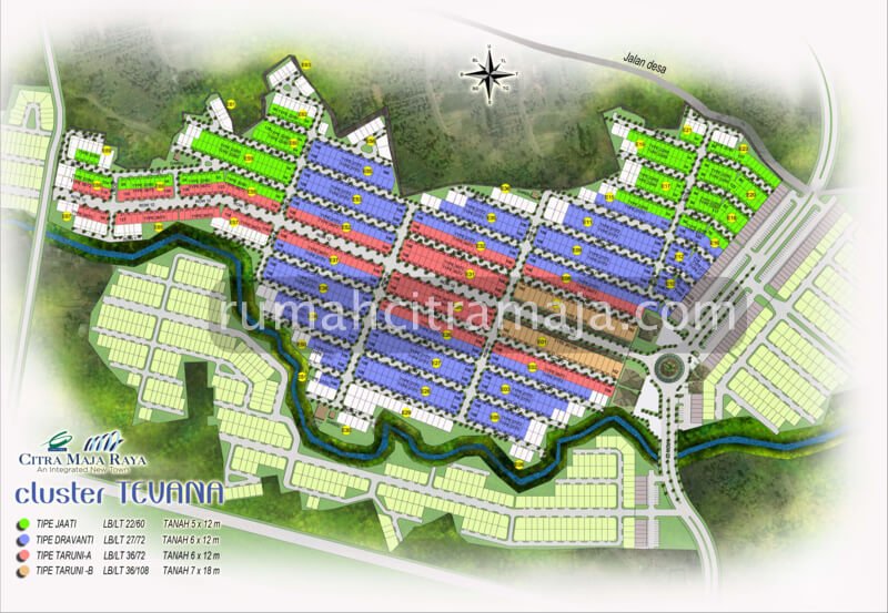 Site Plan Cluster TEVANA RS Citra Maja Raya 2