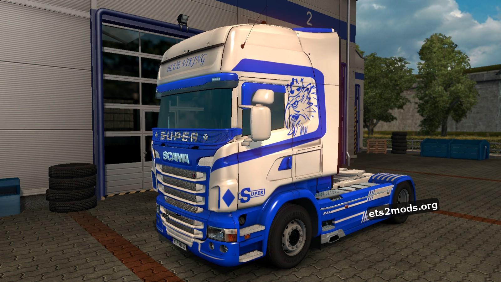 Blue Viking Skin for Scania RJL