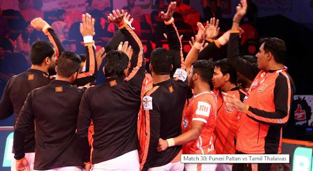 Puneri Paltan vs Tamil Thalaivas, Vivo Pro Kabaddi season 6