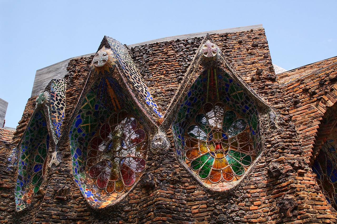 Colonia Guell Crypt: Windows - A Futuristic Vista
