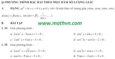 De cuong Toan 11, hoc ki 1, nam hoc 2011-2012, de cuong on tap lop 11