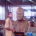 Wow! Nigerian student creates bronze sculpture of the Ooni of Ife for his project