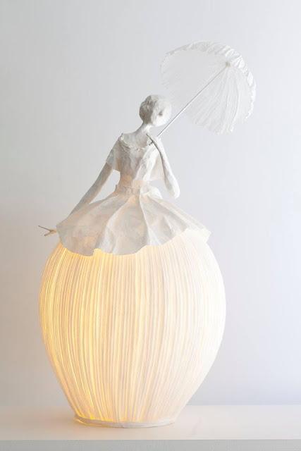 lampy z papieru i papierowej masy