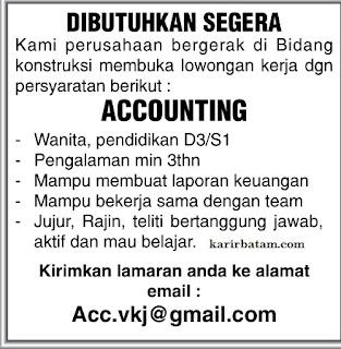 Lowongan Kerja Accounting Maret 2017