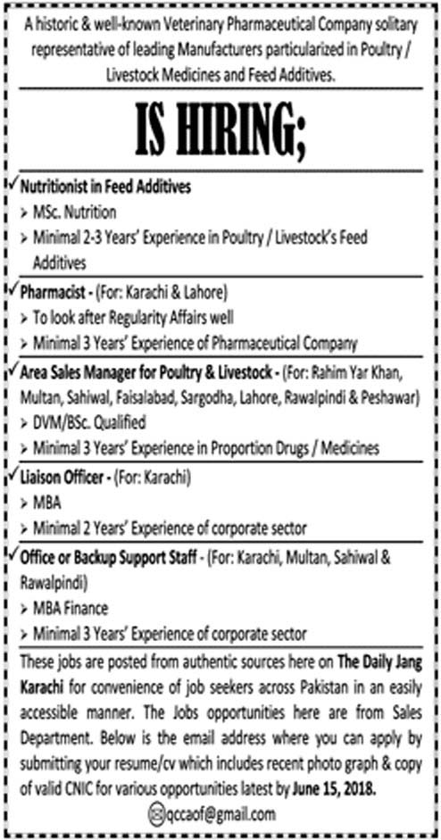 Jobs in IS Pharmaceuticals Company for Pharmacist, Liaison Officer and Other