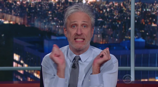 Jon Stewart on Colbert Believe me