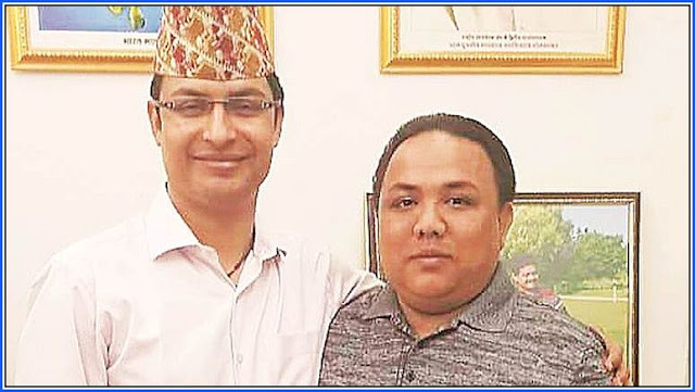 Raju Bista with GNLF spokesperson Neeraj Zimba