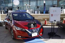 Nissan Leaf electrical vehcles