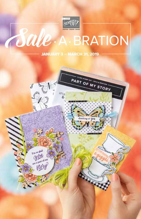 Sale-A-Bration Brochure! Earn FREE Stampin' Up! Products! Expires March 31, 2019