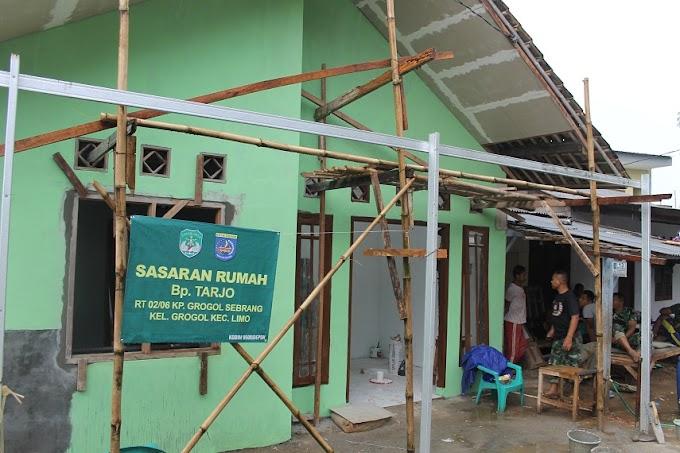Hari ke-21, Rehab Rumah Tarjo Hampir Rampung