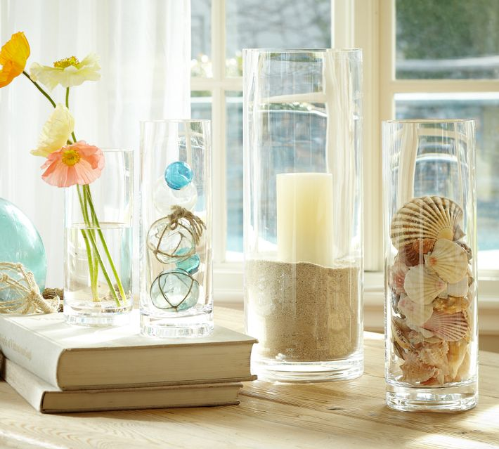 Bring the beach inside with these coastal inspired vase centerpieces