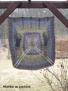 sweter ręcznie robiony na drutach