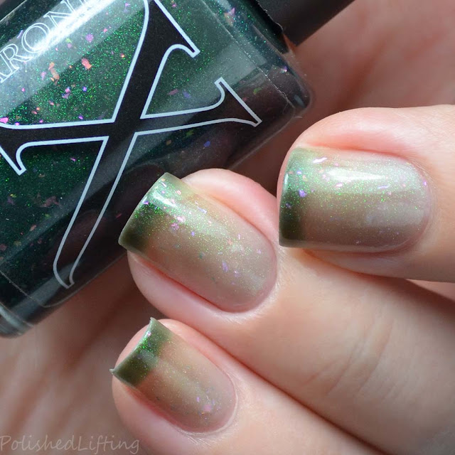 nude to green thermal color changing nail polish