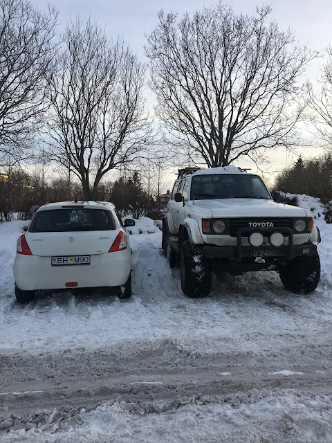 cars, Iceland cars, car size comparision