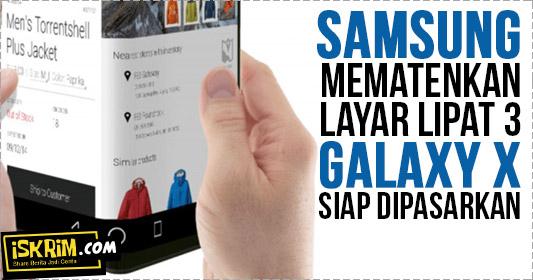 Smartphone Layar Lipat 3 Samsung Galaxy X Segera Hadir, Ini Penampakkan Patennya