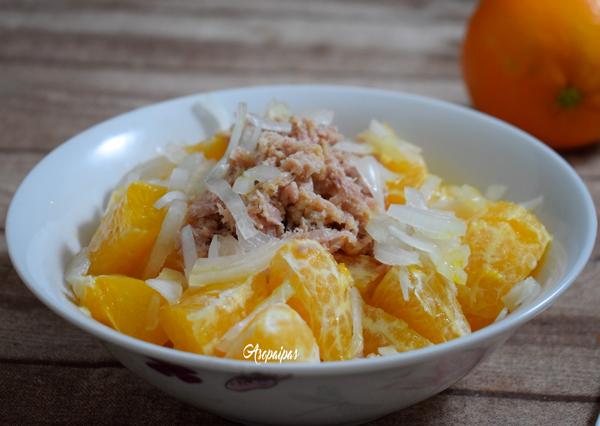 Ensalada de Naranja y Atún. Vídeo Receta