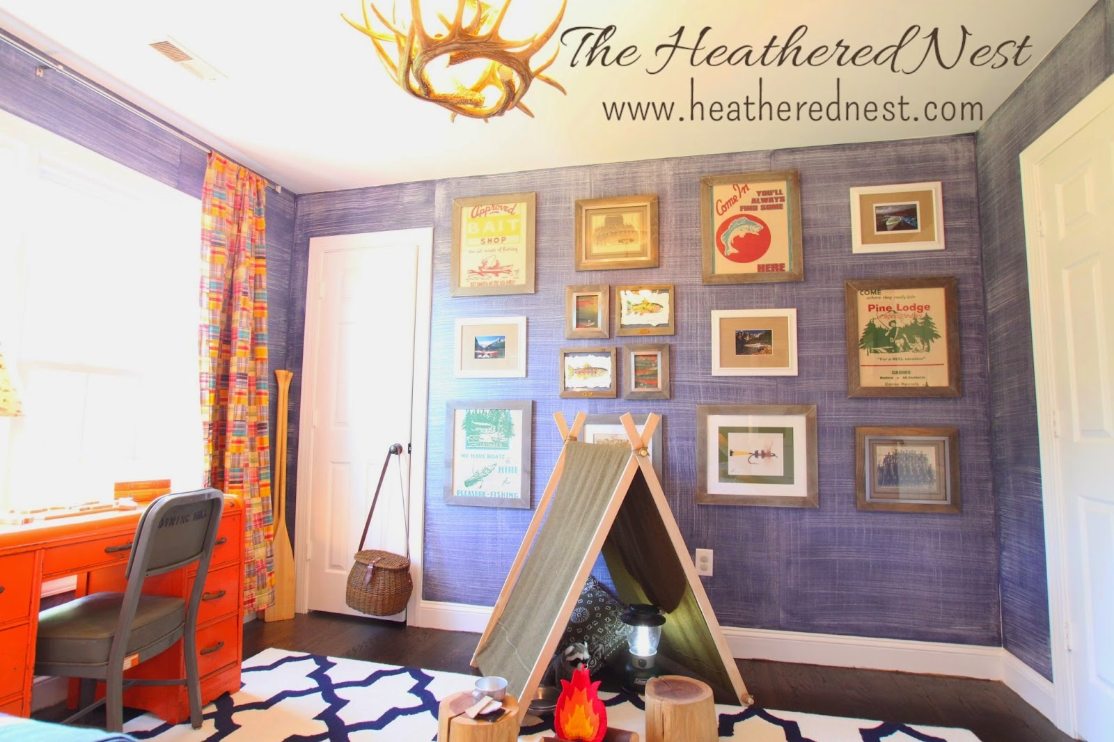 Heather from Heathered Nest is a kick butt home stylist- but she does it one a dime. I love this denim wall paint treatment in her kiddos playroom reveal.