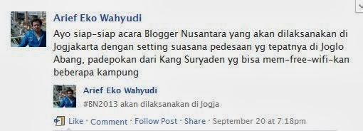 Blogger Nusantara 2013 di Jogja ?