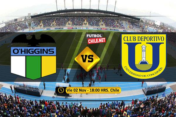 Mira O'Higgins vs Universidad de Concepción en vivo y online por la Primera División