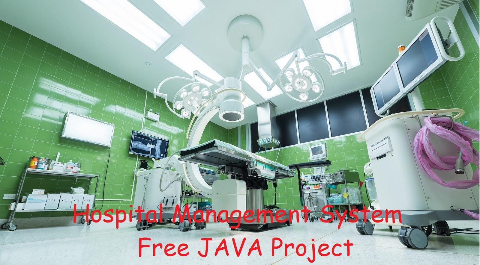 Hospital Management System Free JAVA Project