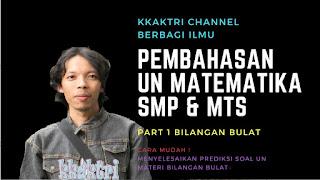 Soal prediksi UN SMP Matematika