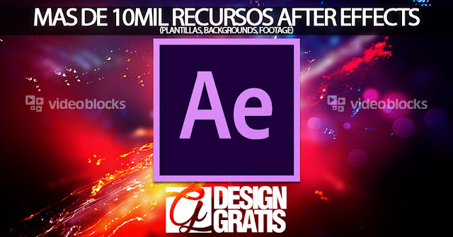 Descargar mas de 10mil recursos para After Effects(template, backgrounds, footage)