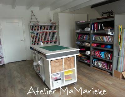 tekentafel, kniptafel atelier MaMarieke