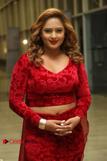 Actress Nikesha Patel Pictures in Red Dress at Araku Road Lo Audio Launch  0007.JPG