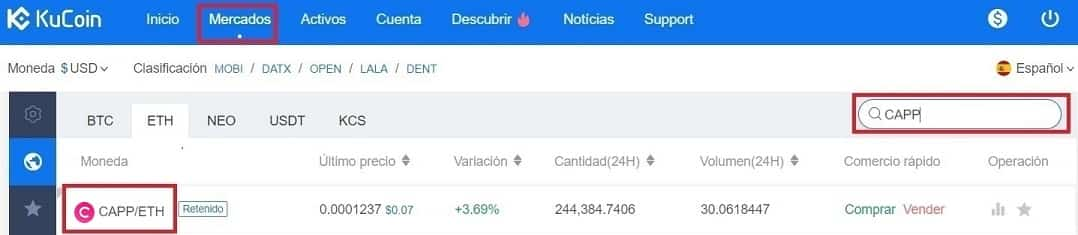 Comprar y Guardar en Monedero Moneda Virtual Cappasity (CAPP)