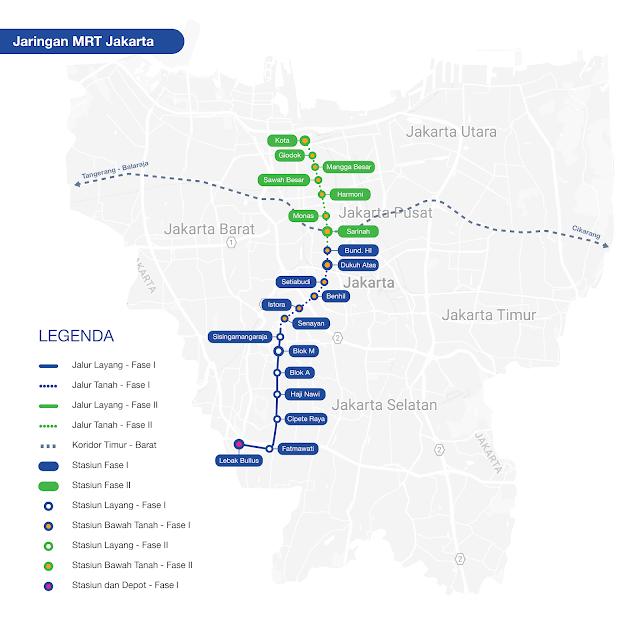 Rute Jalur MRT Jakarta