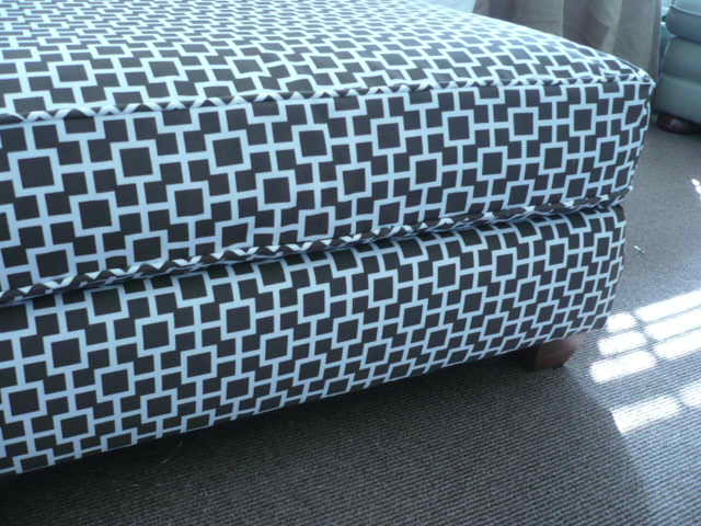 Reupholstering Slipcovering An Ottoman