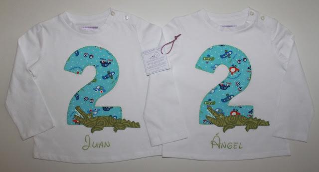 camisetas cumpleaños mellizos 2 años