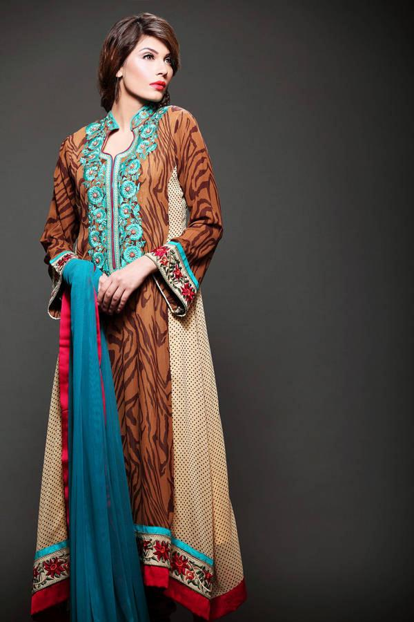 Kashish Casual And Formal Winter Dresses 2012-Bright Colors   Ladies