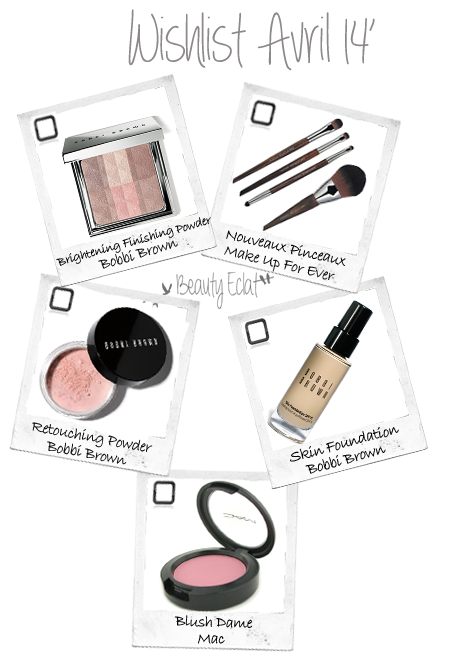 wishlist beaute mac bobbi brown pinceaux make up for ever