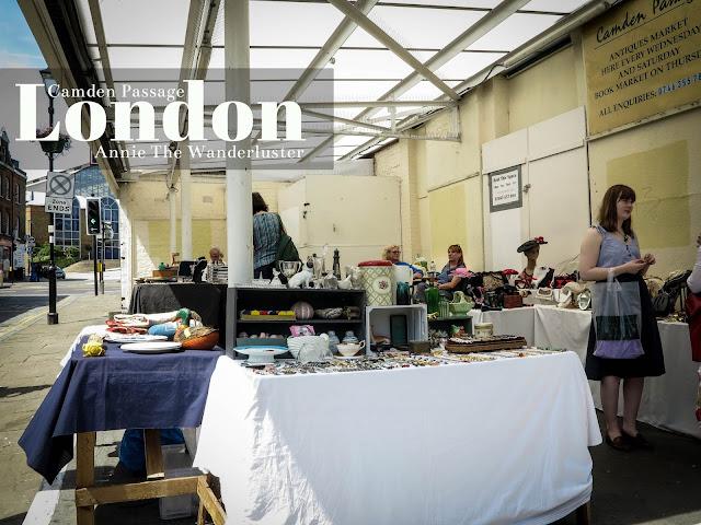 英國景點/北倫敦/CAMDEN PASSAGE古董市集