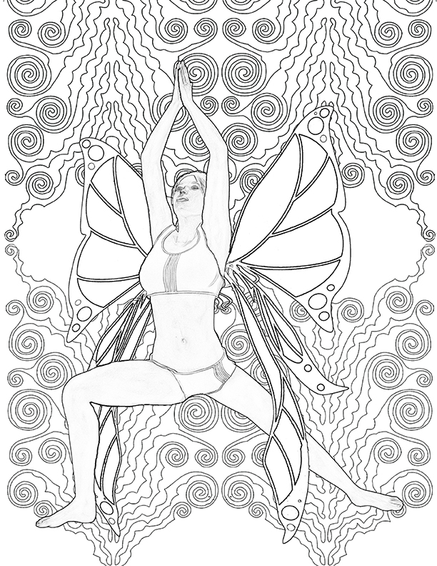 Yoga Fairy Coloring Book for Adults: The coloring book Yoga Fairies ...
