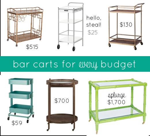 Affordable Bar Carts Creepingthyme Info