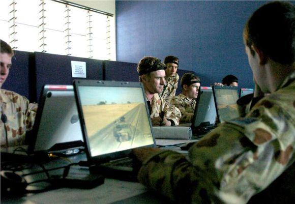 Simulator perang darat tentara Australia