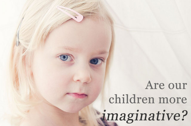 Are children more imaginative