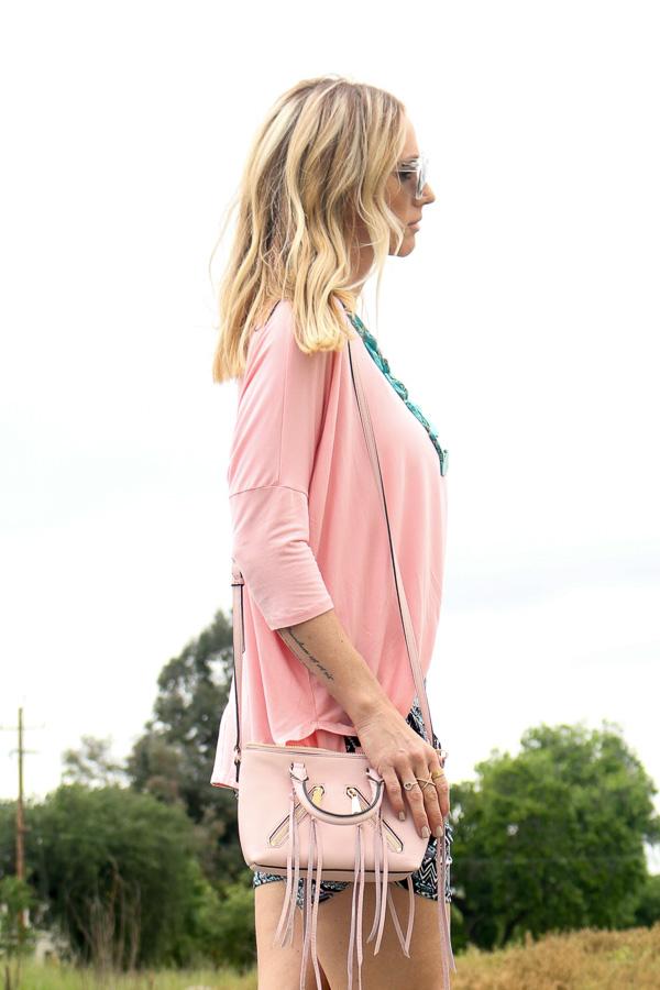 rebecca mink off pink crossbody