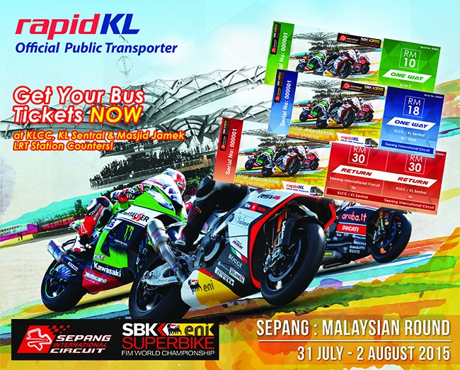 Special Bus Service For World Superbike Championship In Sepang #RapidKL