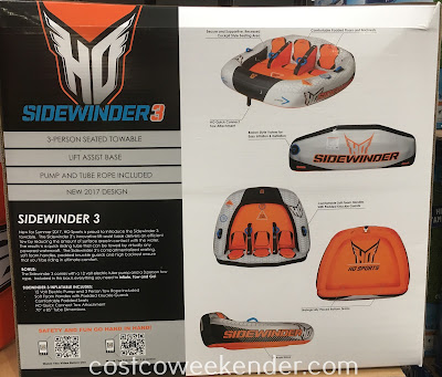 Costco 1092230 - Get ready for summer and water fun with the HO Sports Sidewinder 3 Inflatable