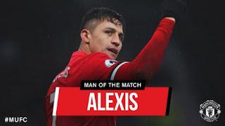 Alexis Sanchez Man of the Match Manchester United vs Huddersfield