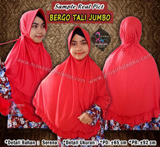 Jilbab bergo tali modelnya yang syar'i tetap kekinian dan murah