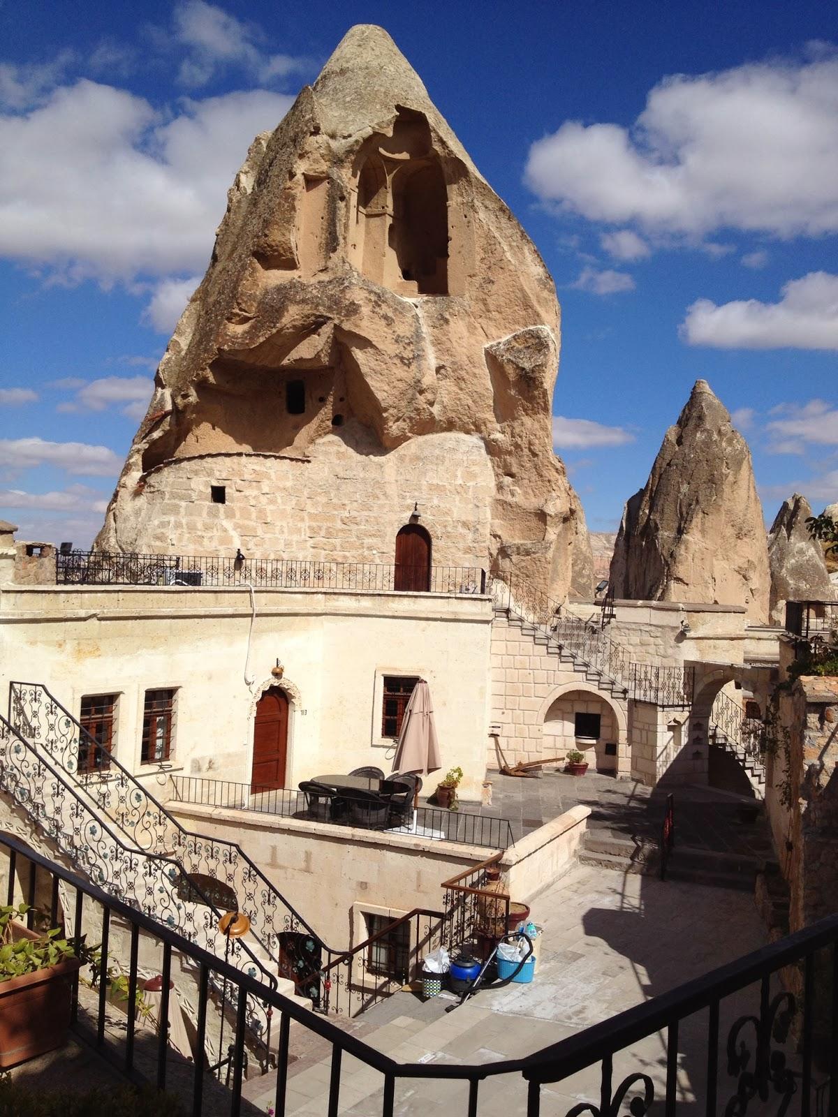 Cappadocia - The grounds of Cappadocia Cave Suites