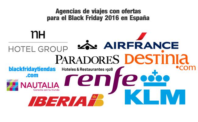 Agencias de viajes con ofertas para el Black Friday 2016 en España