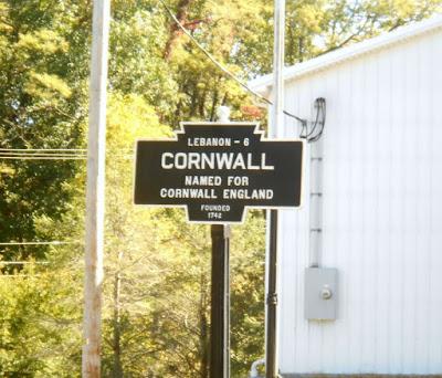 Lebanon Cornwall Town Historical Marker in Pennsylvania