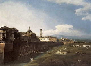 Bellotto's 1745 View of Turin Near the Royal Palace