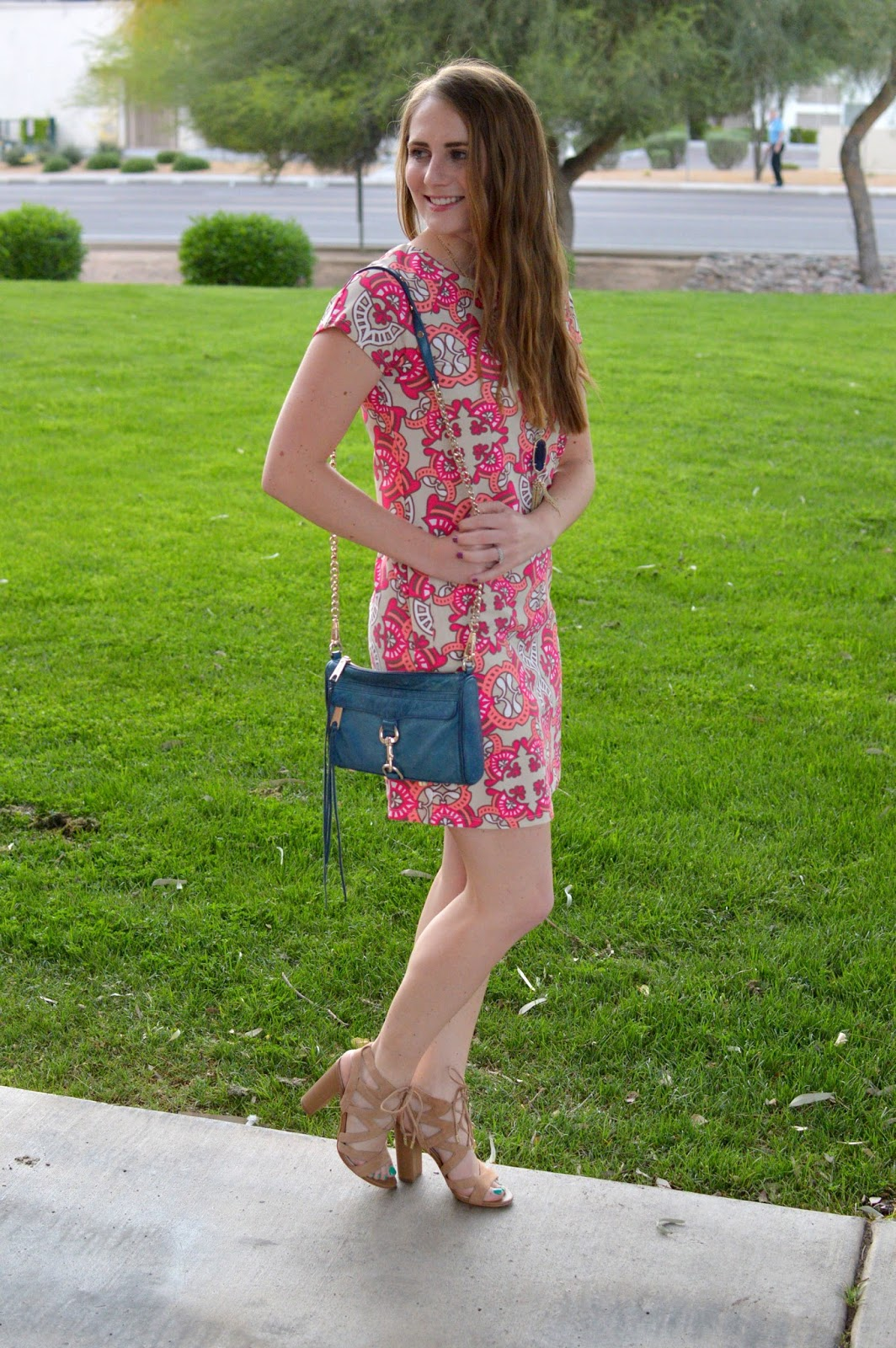 all for color summer terrace shift dress review