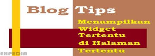 Cara Menampilkan / Menyembunyikan Widget Di Blog